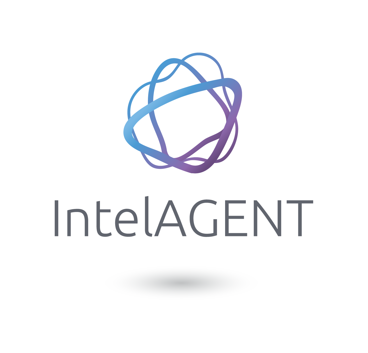 Intelagent logo withshadow